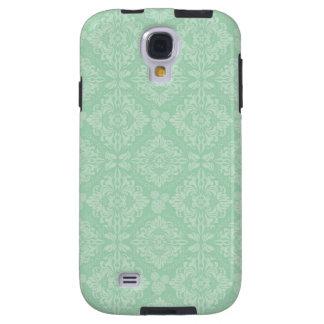 Green damask pattern galaxy s4 case