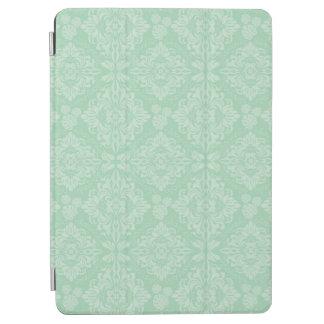 Green damask pattern iPad air cover