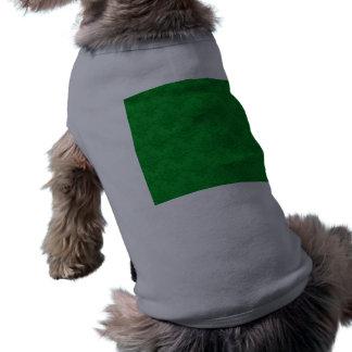 Green damask pattern sleeveless dog shirt
