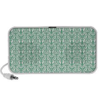 Green Damask Laptop Speaker
