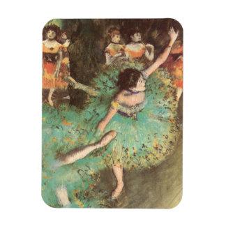 Green Dancer by Edgar Degas, Vintage Ballet Art Rectangular Photo Magnet