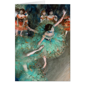 Green Dancer (Danseuse Verte) Edgar Degas Greeting Card