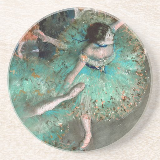 Green Dancer (Danseuse Verte) Edgar Degas Coasters