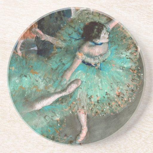 Green Dancer (Danseuse Verte) Edgar Degas Coasters