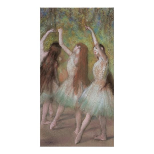 Green Dancers by Edgar Degas, Vintage Ballet Art