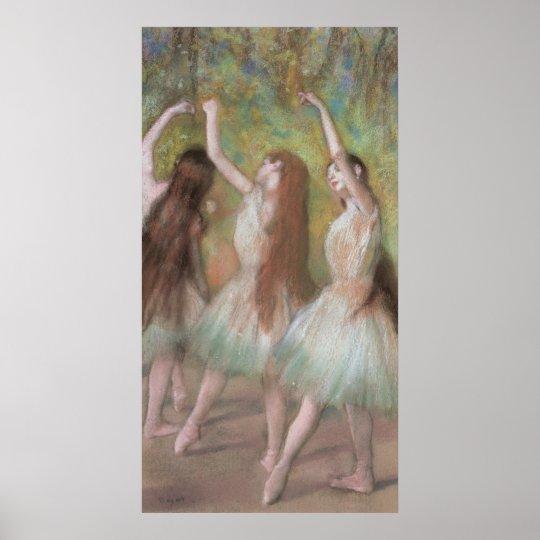 Green Dancers by Edgar Degas, Vintage Ballet Art Poster