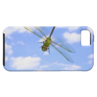 Green darner (Anax junius) flying against clouds iPhone 5 Case