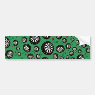 Green dartboard pattern bumper sticker