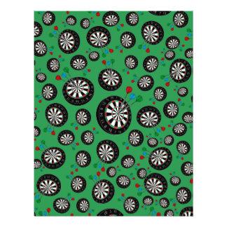 Green dartboard pattern personalized flyer