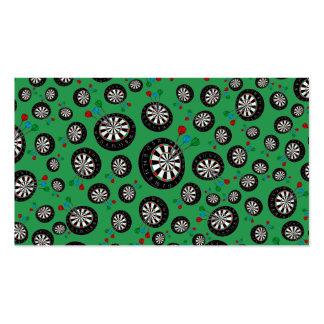 Green dartboard pattern pack of standard business cards