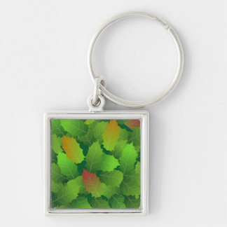 green days Silver-Colored square key ring