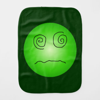 Green Dazed and Confused Smiley Burp Cloth