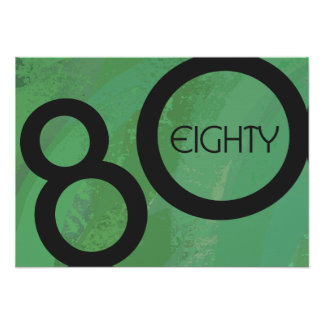 Green Decade 80th Birthday Poster