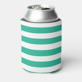 Green Deckchair Stripes Can Cooler