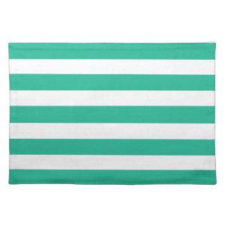 Green Deckchair Stripes Placemat
