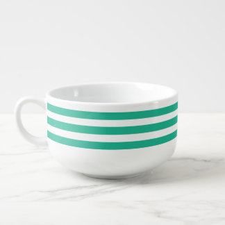 Green Deckchair Stripes Soup Mug
