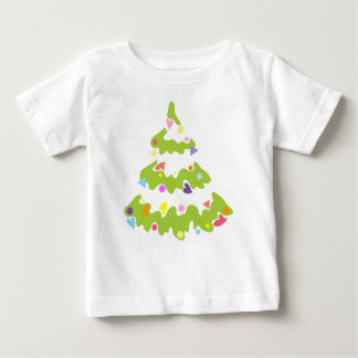 green decorated Christmas tree Baby T-Shirt