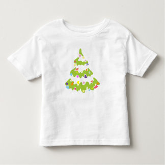 green decorated Christmas tree Tees