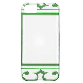 GREEN Decorative Border : Think multi uses iPhone 5C Cases