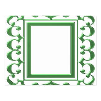 GREEN Decorative Border : Think multi uses Postcard