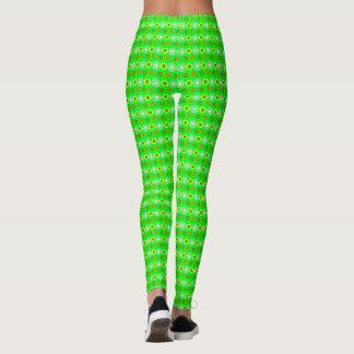Green Decorative geometric pattern Leggings