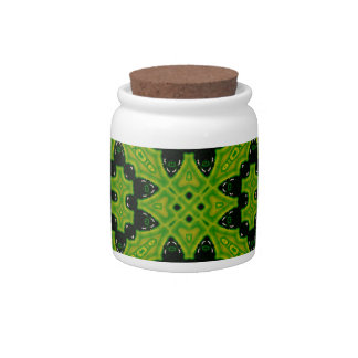 Green decorative pattern candy dish