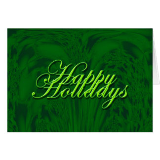 Green Design Greeting Card