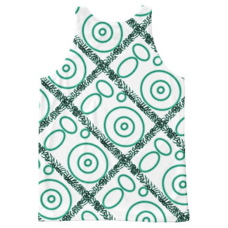 Green design on vest