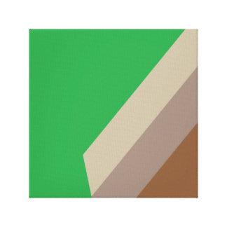 Green Design Painting Alfa Canvas Print