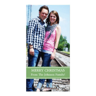 Green Design Photo Card Christmas Cards