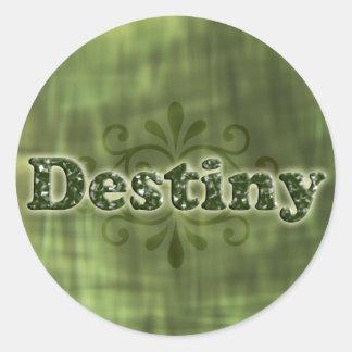 Green Destiny Round Sticker
