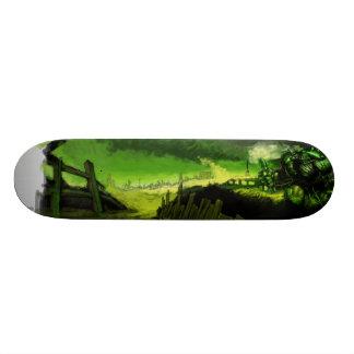 Green Destruction Skateboard Deck