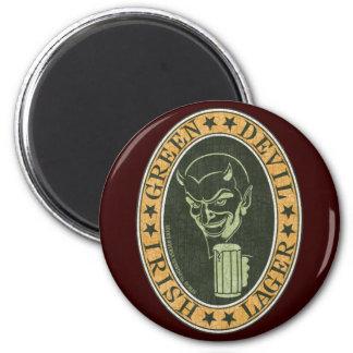 Green Devil Lager 6 Cm Round Magnet