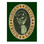 Green Devil Lager Postcards
