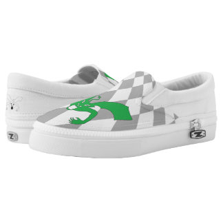 Green Devil Slip On Shoes