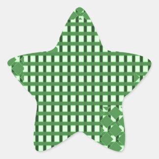 Green diamond n sq rect patterns. LOWPRICE STORE Star Sticker