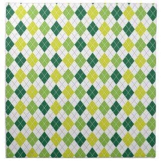 Green Diamonds, Argyle Pattern Napkin