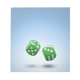 Green dice notepad
