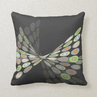 Green Digital Butterfly Graphics Art Pillow Cushio Throw Cushion