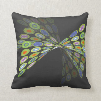 Green Digital Butterfly Graphics Art Pillow Cushio Throw Cushions