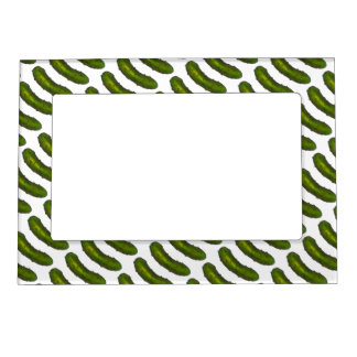 Green Dill Pickle Pickles Foodie Picture Frame Magnetic Photo Frames