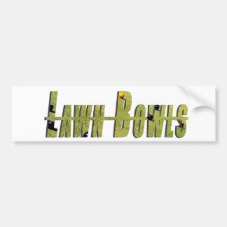 Green Dimensional Lawn Bowls Logo, Bumper Sticker