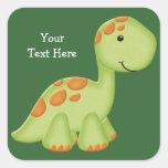 Green Dino (customisable) Square Sticker