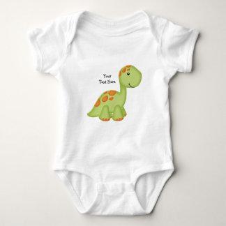 Green Dino (customizable) Baby Bodysuit