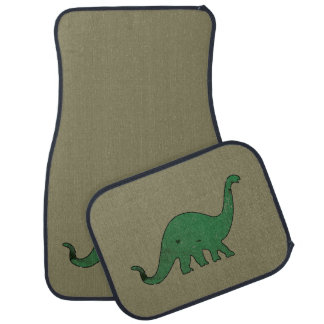 Green Dino distressed Car Mat