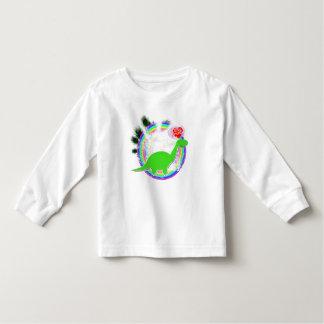 Green Dino in Forest Cartoon Shirt