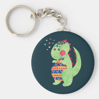 Green Dino Key Ring