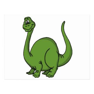 Green Dino Postcard