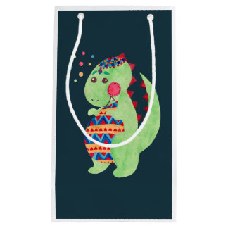 Green Dino Small Gift Bag