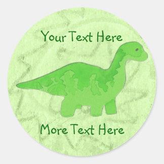 Green Dino Stickers